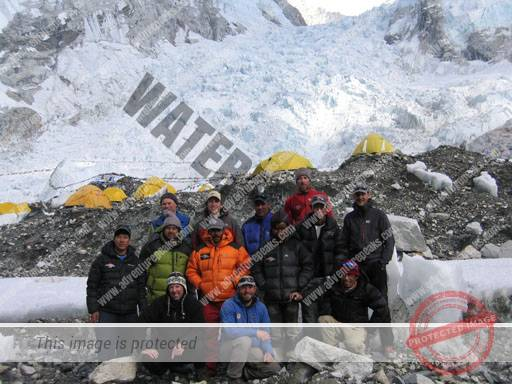 The Khumbu Icefall from Everest Base Camp