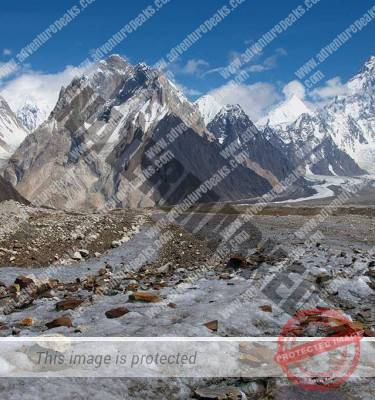 K2 Mountain Base Camp Gondogoro Peak and K2 Base Camp
