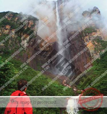 Roraima Tepuy and Angel Falls