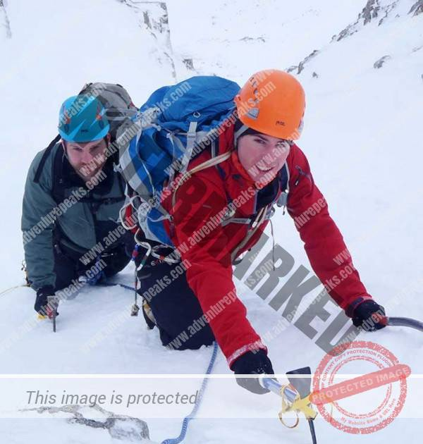snow ice climbing course