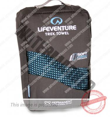 Lifeventure Soft Fibre Trek Towel Blue