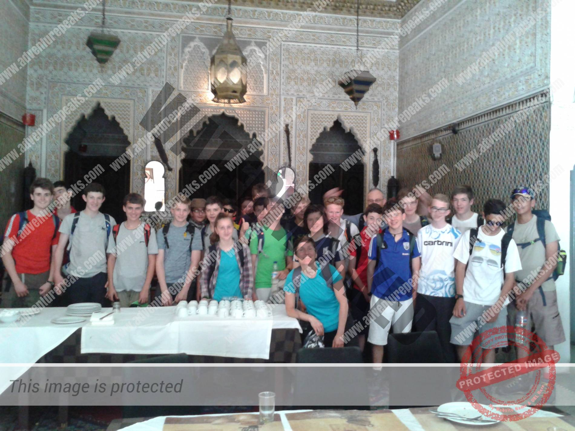 The group in the Hotel Foucauld