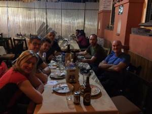 Kathmandu meal before starting Everest expedition
