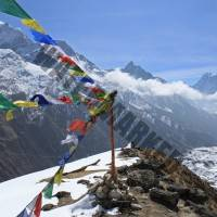 Gokyo Valley prayer flags