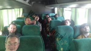 20th January 2018 Aconcagua Team on the Bus to Penitentes