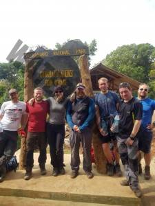 Whole team at the end of the trek