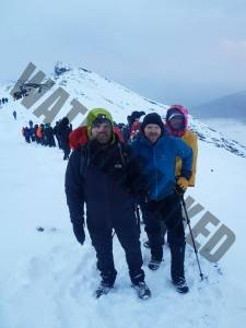 5 minutes from the summit