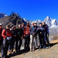 Group on way up to Gokyo