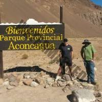 At the Park Entrance for Aconcagua. Ready to Start the Trek to Pampa De Lenas