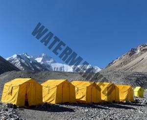 Happy Clients With The New Sleeping Tents at Everest BC