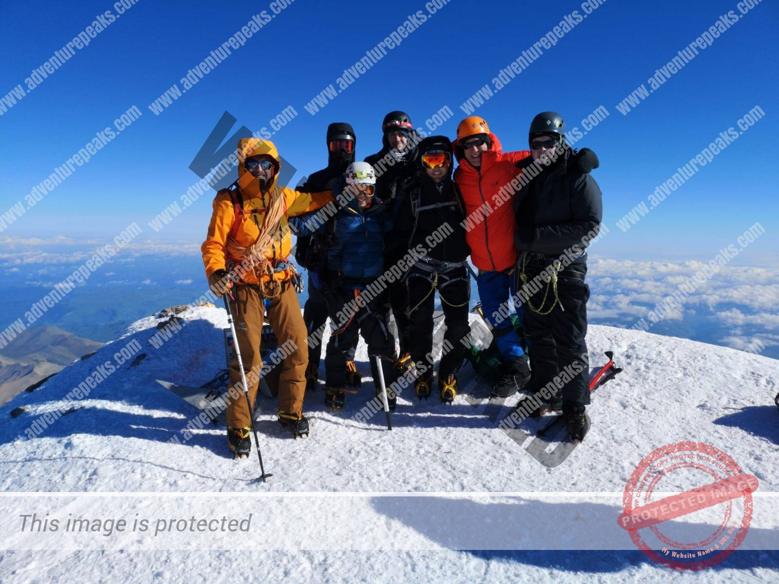 21 Elbrus summit group