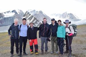 7. The team at Base Camp with our UB Guide Ankhar