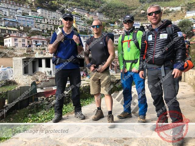 the team in Namche