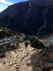 The path out of Namche towards the Everest view hotel