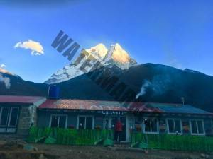 Coffee and Ama Dablam