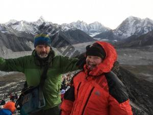 Jude and Paul on Kala Patthar