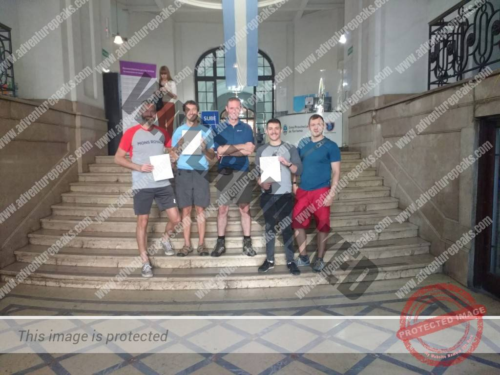 30th November 2019 Adventure Peaks Team With Their Permits