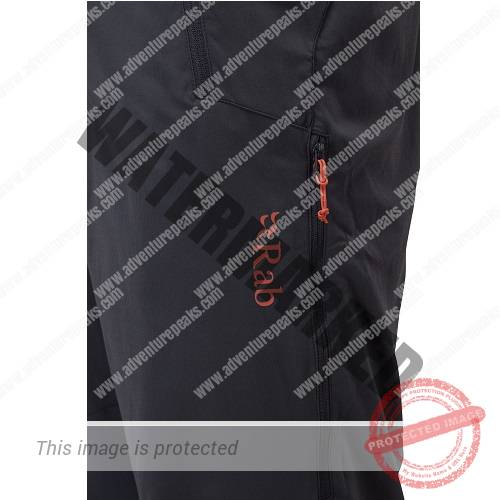 Tough, warm and breathable legwear using the Rab Vapour-rise system. Perfect for winter mountaineering and mixed weather conditions.#Wind resistant and highly breathable stretch woven shell fabric#Zoned lining optimises  warmth and fast-wicking areas#Reinforced knees and ankle patches#Expanding YKK zip ankle gusset to accommodate large boots#Thigh vents for heat management with YKK zips#Hand pockets, thigh pocket and rear pocket#Snap opening waistband and double ended YKK fly zip#Belt loops and braces attachment points (braces not included)#Centre Back: 80cm / 31.4' (Size L)#Main Fabric: Matrix double weave, 133 g/m�, with DWR#Lining: Brushed fast-wicking, 83g/m�#Composition: 90% polyamide/5% elastane outer with 100% polyester